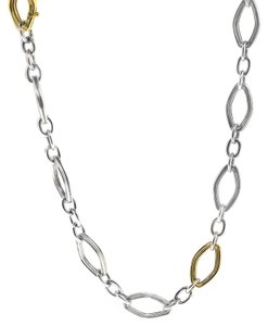 """Charles Krypell Charles Krypell Silver and 14k Yellow Gold 30"""" Chain"""