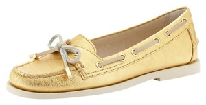 MICHAEL Michael Kors Mk Driving Loafer Deck Gold Flats