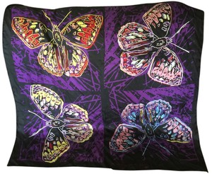 ANDY WARHOL BUTTERFLY SILK SCARF