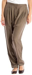 Dries van Noten Rayon Trouser Pants khaki