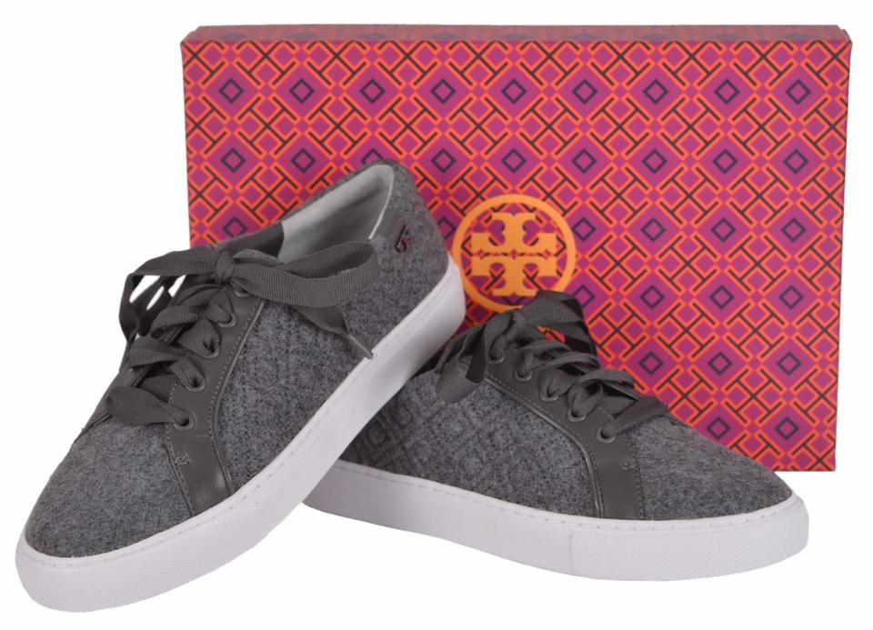 dd7cd324e7ab Tory Burch Gray Marion T Women s Quilted Felt Logo Sneakers Sneakers Size  US 9.5 Regular (M