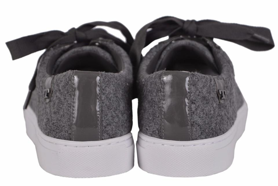 9915f1bc074b Tory Burch Gray Marion T Women s Quilted Felt Logo Sneakers Sneakers ...