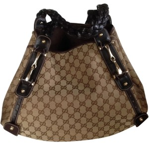 Gucci Horsebit Leather Chanel Kors Tote in Brown
