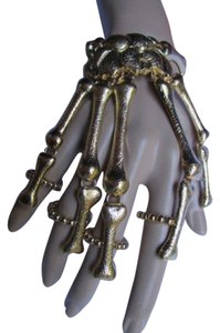 Other Women Gold Multi Fingers Metal Hand Chain Skeleton Fashion Slave Bracelet Rings