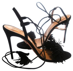 Aquazzura Wild Thing Wild Thing Fringe black Sandals