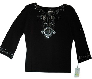 J.A.C. Sequin Top black