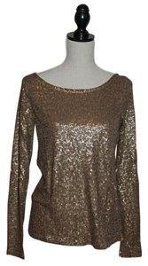 J.Crew T Shirt Tarnished Gold Sequin Tee