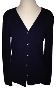 Dana Buchman Cardigan Navy Mother Of Pearl Career Work Sweater