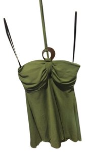 IZ Byer California Tupe Sleeveless Flair Green Halter Top