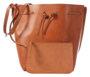 Mansur Gavriel Bucket Blue Tan Shoulder Bag