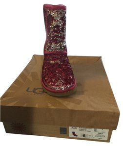 UGG Australia Fushia and silver sequins Boots