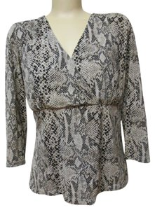 Liz Claiborne Top Animal Print with 3/4 sleeves