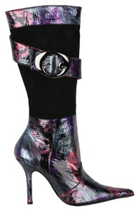 MS Shoe Designs Black & Multi Boots