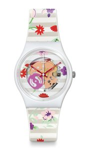 Swatch Swatch Women Floral Analog Watch GZ290