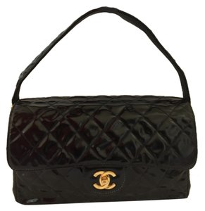 Chanel 2.55 Patent Double Sided Shoulder Bag
