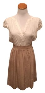 Zara short dress khaki & white on Tradesy