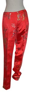 Ralph Lauren Skinny Pants Red Chinoiserie Print