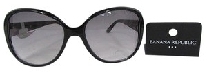 Banana Republic Banana Republic Women Fashion Plastic Big Wide Sunglass Black Lens 100 Uva Uvb