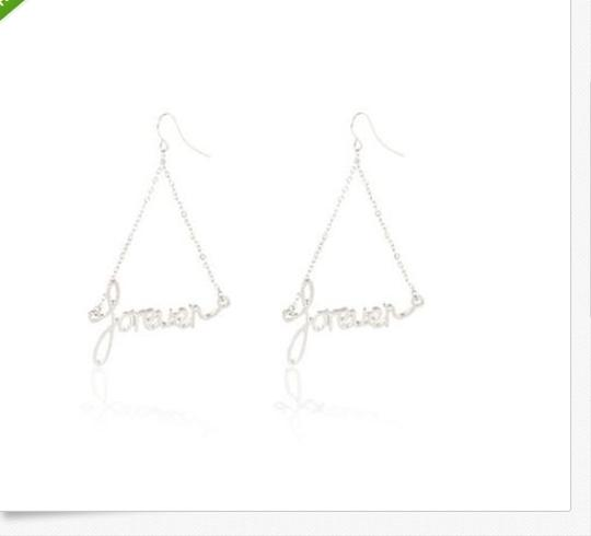 "River Island River Island ""Forever"" Silver Tone Chandelier Earrings"