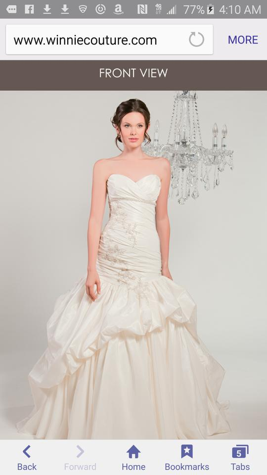 d7aba459fdf5f Winnie Couture White Taffeta Camille 9110 Formal Wedding Dress Size 10 (M)  ...