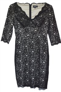 Adrianna Papell Lace Coctail Evening Knee Length Dress
