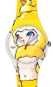 Swatch Swatch Unisex Yellow Analog Watch SUOZ113