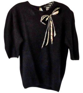 IB Diffusion Wool Velvet Sequin Silver Sweater