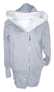EFDI Light Fuzzy Hooded Grey Jacket