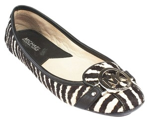Michael Kors Animal Print White & Black Flats