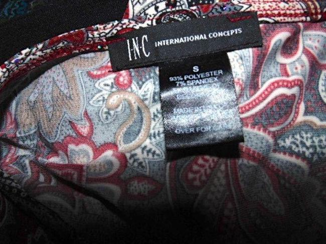 INC International Concepts Size Small P406 Top RED GRAY WHITE