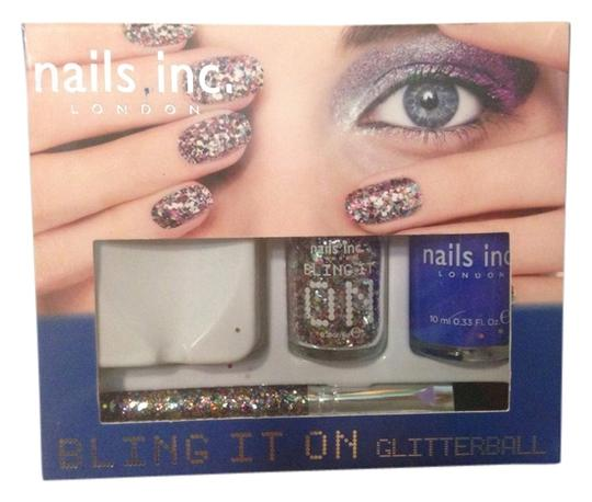 Sephora New in box. Nails inc. bling it on glitterball set. Glitter, brush & nail polish.