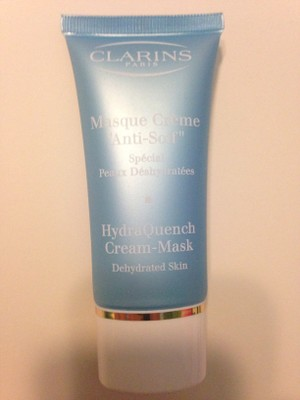 how to use clarins hydraquench cream mask