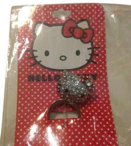 3903ad506 Hello Kitty New Hot Topic Hello Kitty head 3D Bling Ring size 7