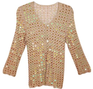 Other Crochet Sequin Top beige