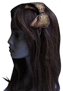 Other Women Kids Gold Brown Rhinestones Big Bow Fashion Headband Hair Accessories