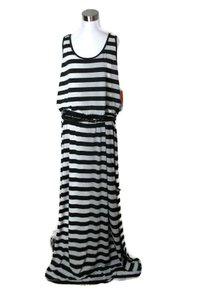 Black & Silver Maxi Dress by Fever