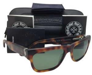 Chrome Hearts Polarized CHROME HEARTS Sunglasses PUMPINETHYL MBST Matte Tortoise w/ Green lens