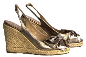 Valentino gold Wedges