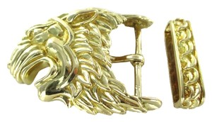 David Webb DAVID WEBB 18K SOLID YELLOW GOLD VINTAGE LION BELT BUCKLE 62.0 GRAMS FINE JEWEL