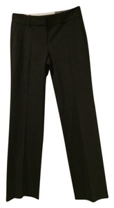 Ann Taylor Relaxed Fit Trouser Leg Trouser Pants Gray