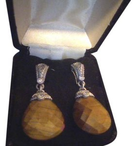Kay Jewelers Tiger eye earrings