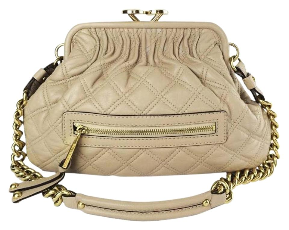 62061961dd4a Marc Jacobs Little Stam Nude Quilted Leather Chain Strap Shoulder Bag Image  0 ...