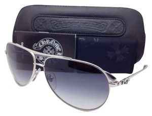 Chrome Hearts New CHROME HEARTS Sunglasses STAINS IV SS 64-13 138 Silver Frame w/Grey Gradient