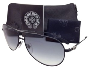 Chrome Hearts New CHROME HEARTS Sunglasses STAINS IV MBK Matte Black w/ Grey w/Sterling Silver