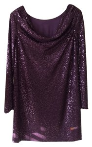 Tibi Sequin Shift Date Cocktail Fully Lined Dress
