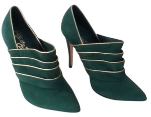 Alice + Olivia Green Leather Suede Emerald Green Boots
