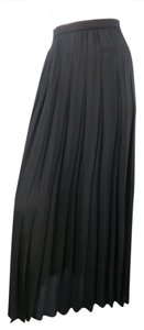 Thierry Mugler Vintage New With Tags Pleated 90s 80s Skirt Black