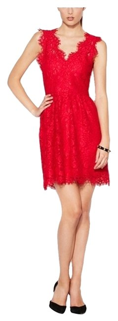 Item - Red Above Knee Cocktail Dress Size 4 (S)