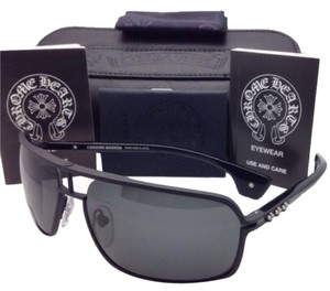 Chrome Hearts New CHROME HEARTS Sunglasses MORNING WOOD II MBK-BK Matte Black Frame with Grey