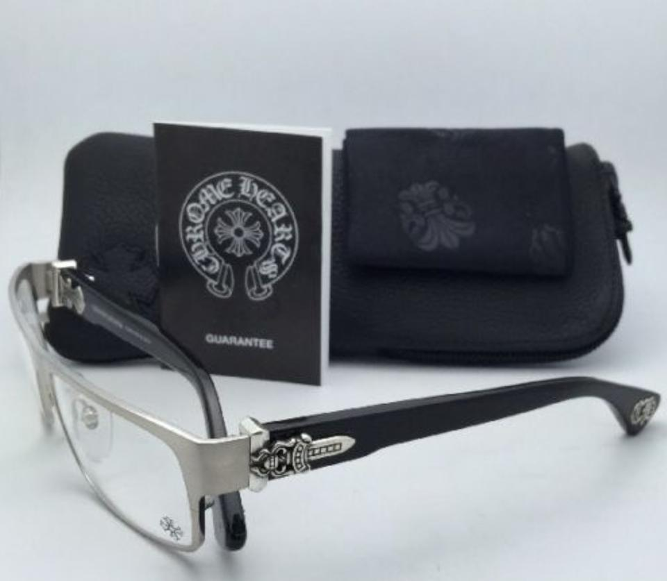 470785dd2cb Chrome Hearts Throat Coat Bs-bk Silver   Black W  Sterling Silver New  Eyeglasses W  - Tradesy